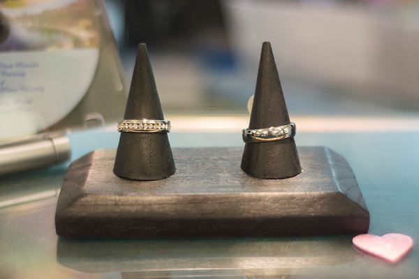 Two rings on a stand
