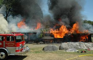 South Placer Fire District Training Burn