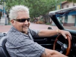 Guy Fieri in a Car on Guy's Family Road Trip